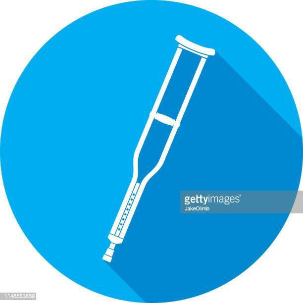 Crutches Icon Silhouette