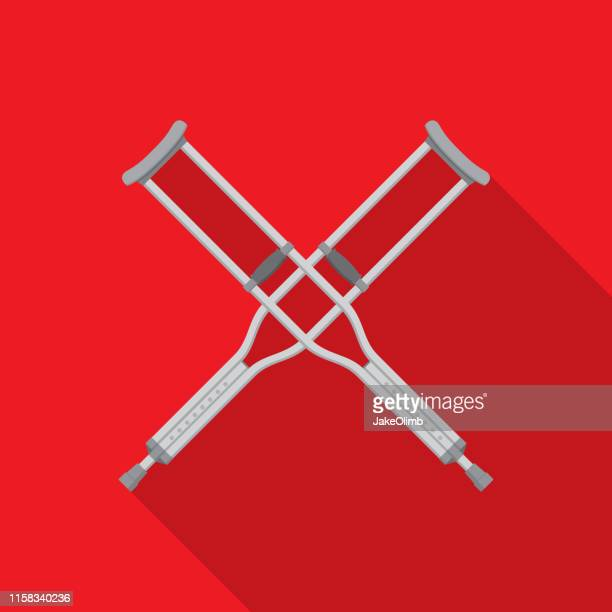 Crutches X Icon Flat
