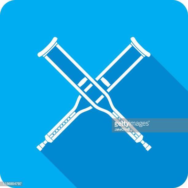 Crutches X Icon Silhouette