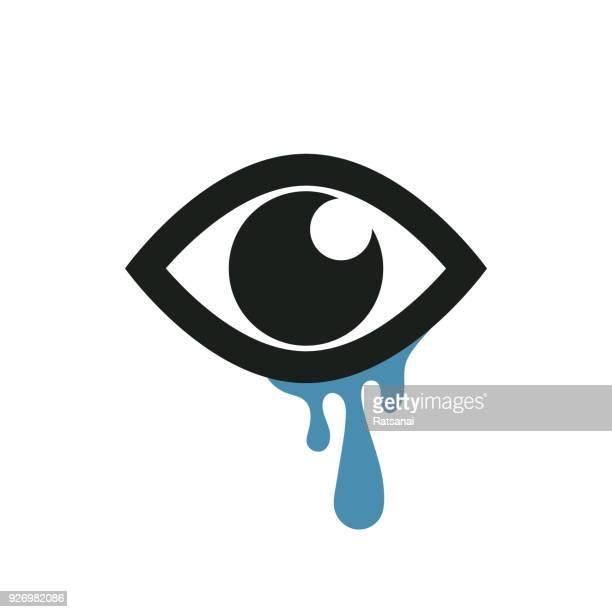 cry - teardrop stock illustrations