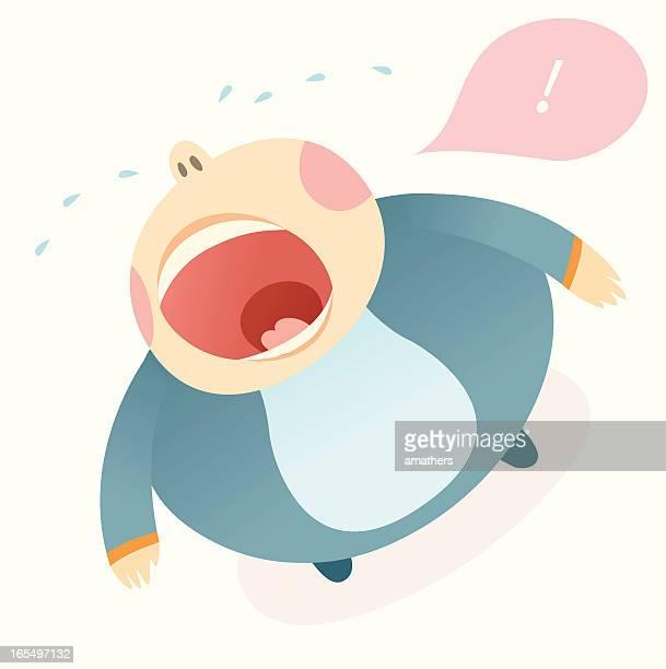 ilustraciones, imágenes clip art, dibujos animados e iconos de stock de cryer - obesidad infantil