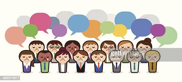 頭のビジネス人々 withs スピーチの泡