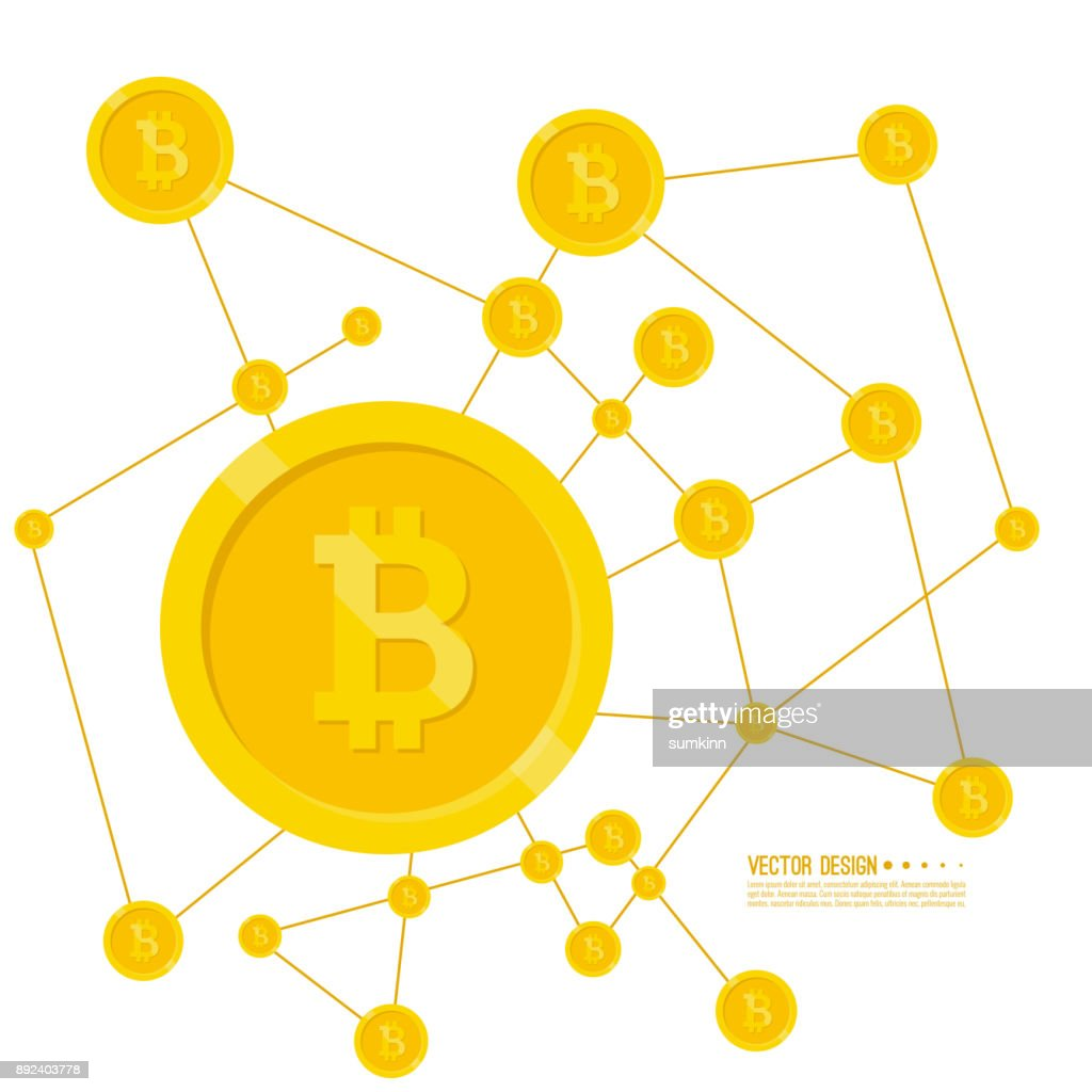 Crypto currency Bitcoin internet.
