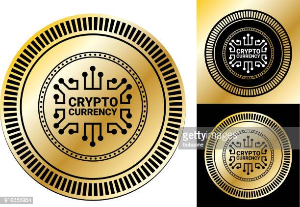 crypto currency. - coin stock illustrations