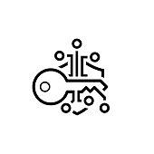 Crypto Key Management Icon