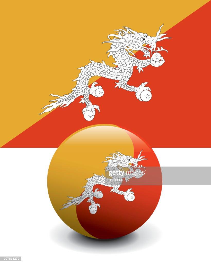 Crystal Ball Flag Bhutan Stock Illustration - Getty Images