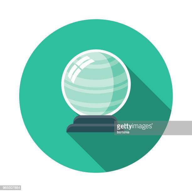 Crystal Ball Flat Design Fantasy Icon