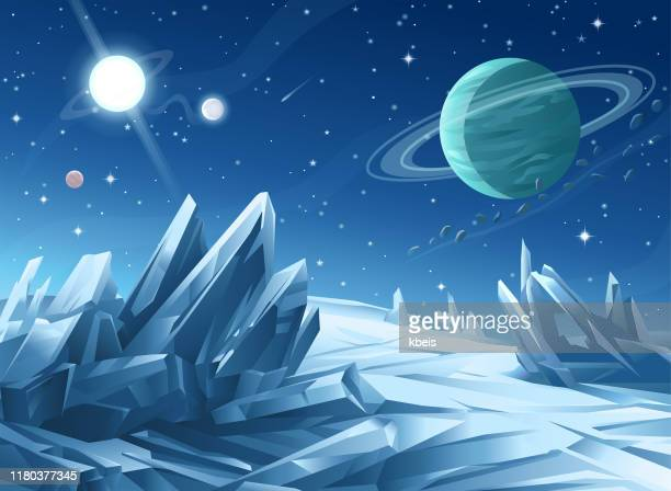 crystal planet - copy space stock illustrations