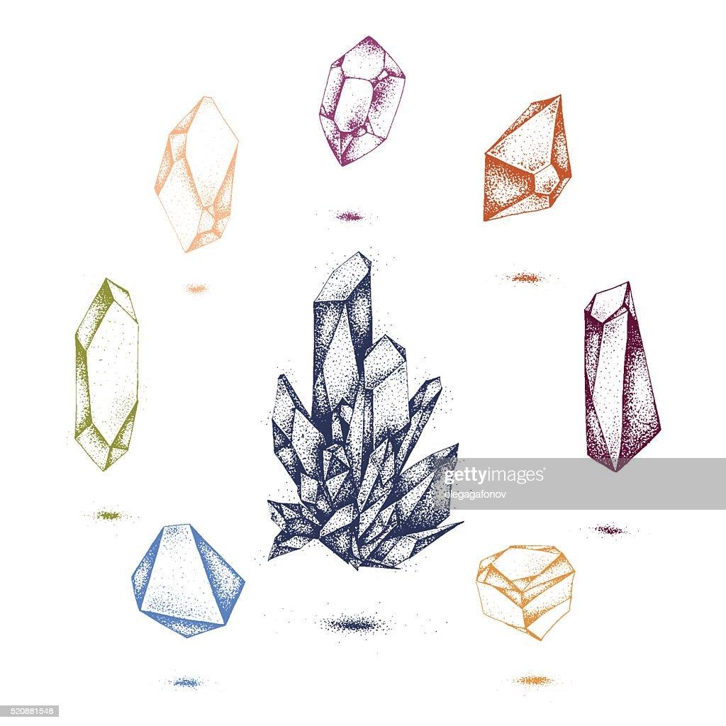 crystal point illustration