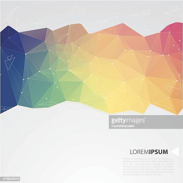 Crystal Regenbogen Hintergrund mit text