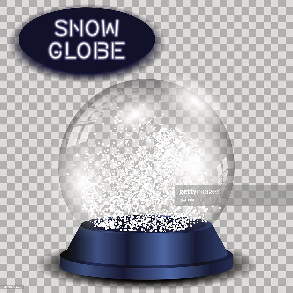 Crystal snow globe transparent and isolated for design. Vector eps10.