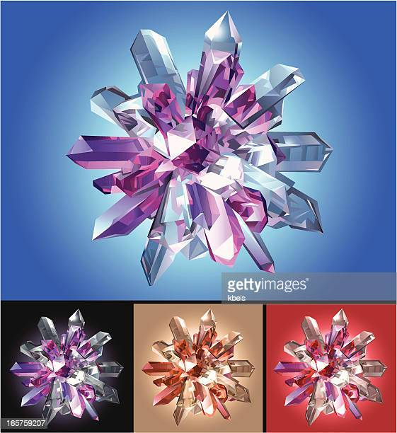 crystal star on colored background - crystal stock illustrations