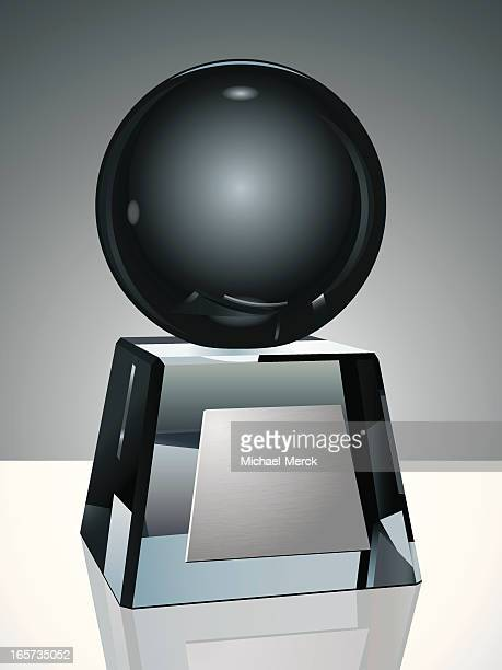 Crystal Trophy with Globe