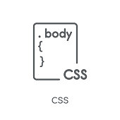 Css linear icon. Modern outline Css logo concept on white background from Programming collection