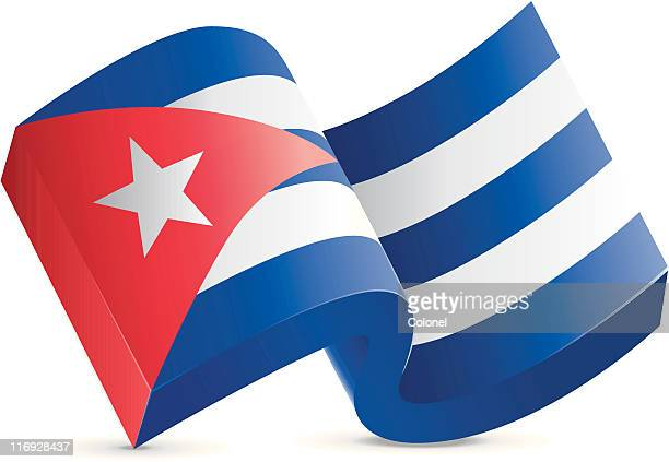 cuba - chunky flag icon - cuban culture stock illustrations, clip art, cartoons, & icons
