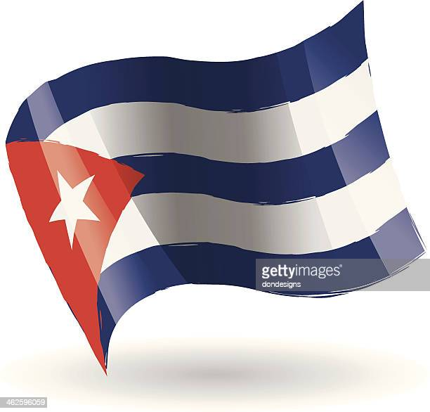 cuba flag waving - cuban culture stock illustrations, clip art, cartoons, & icons