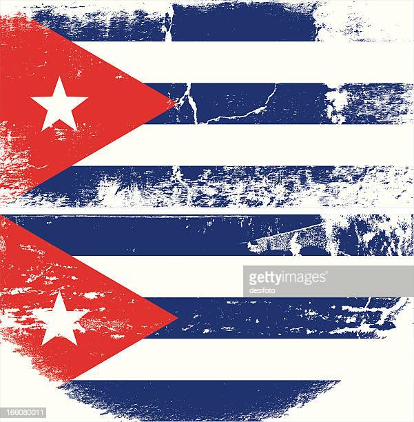cuba grunge flag - cuban culture stock illustrations, clip art, cartoons, & icons