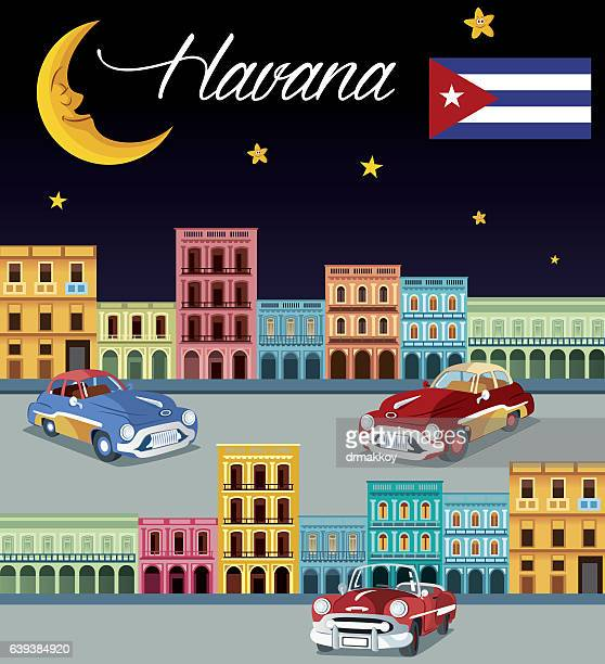 cuba, havana - cuban culture stock illustrations, clip art, cartoons, & icons