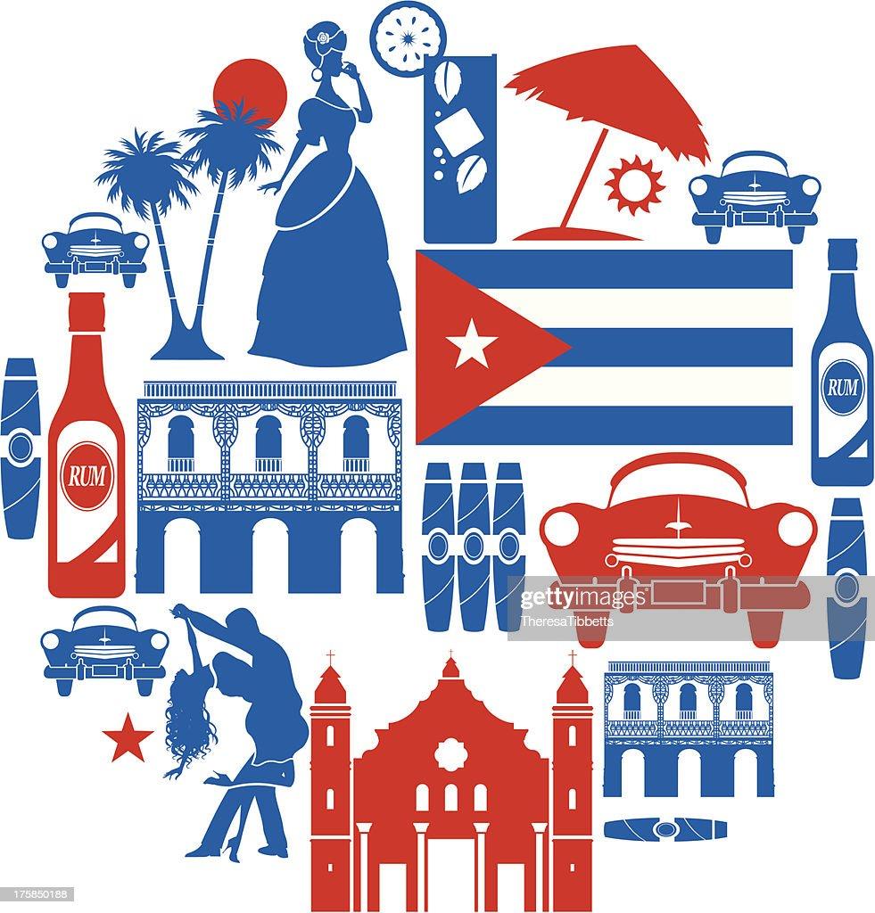 Cuba icon Set : stock illustration