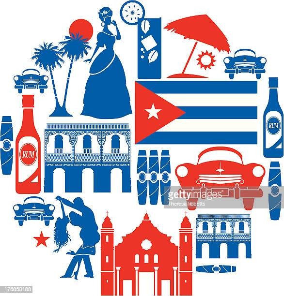 cuba icon set - latin american dancing stock illustrations, clip art, cartoons, & icons