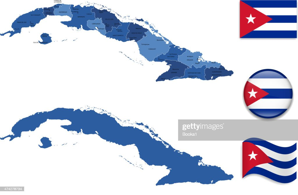 Cuba Map and Flag Collection