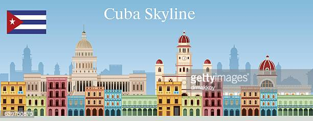 cuba skyline - cuban culture stock illustrations, clip art, cartoons, & icons