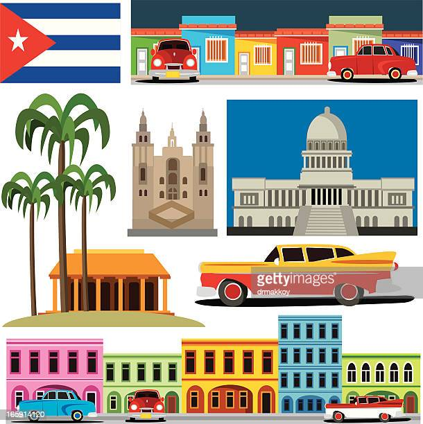 cuba symbols - cuban culture stock illustrations, clip art, cartoons, & icons