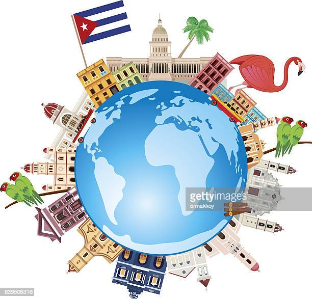cuba travel - cuban culture stock illustrations, clip art, cartoons, & icons