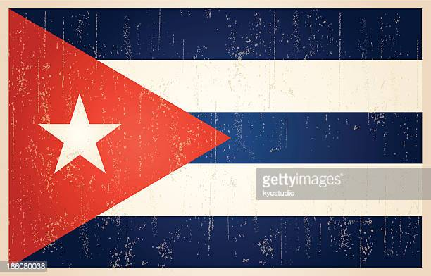 cuban grunge vintage flag - cuban culture stock illustrations, clip art, cartoons, & icons