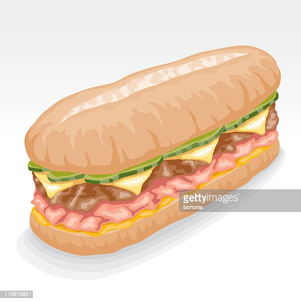 cuban sandwich - cuban culture stock illustrations, clip art, cartoons, & icons