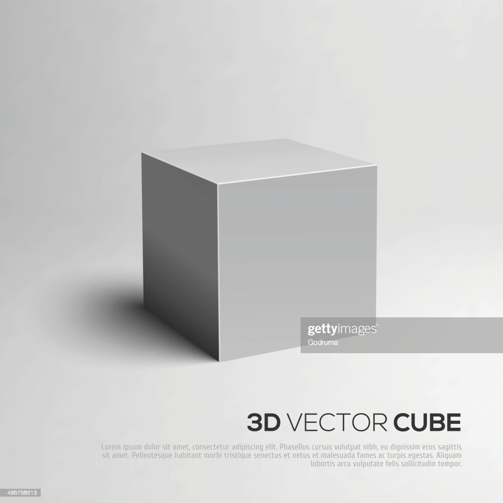 Cube 3D. Vector illustration for your design.