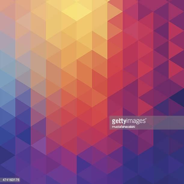 cube diamond abstract background - triangle shape stock illustrations