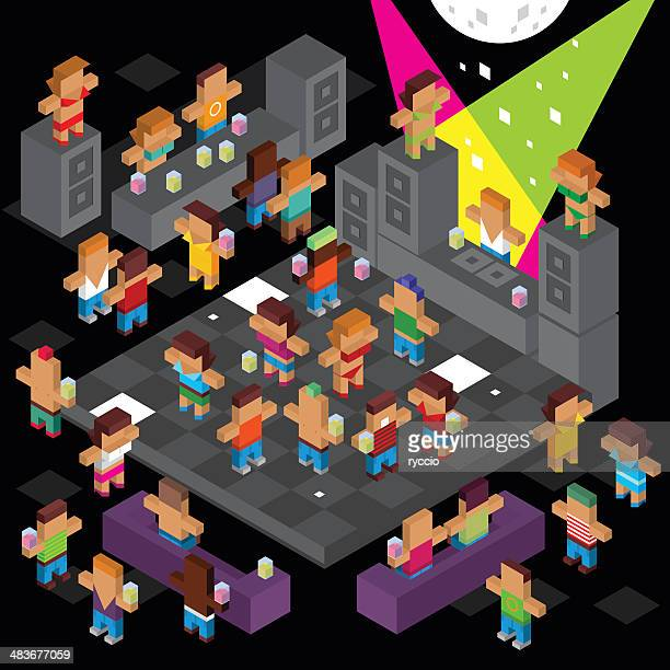 Cube disco dancing