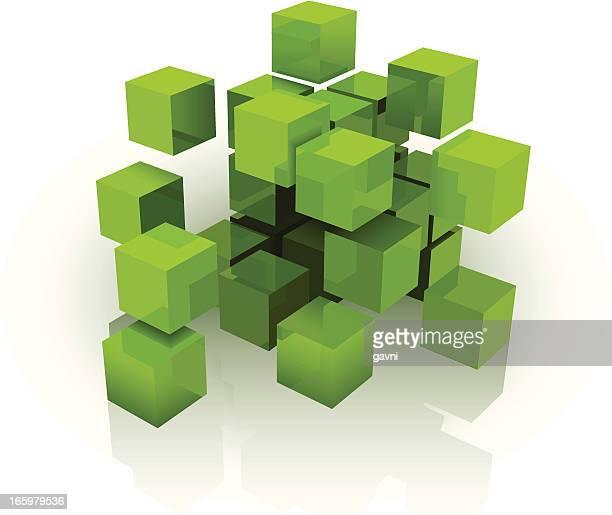 illustrations, cliparts, dessins animés et icônes de cube - jeu de construction