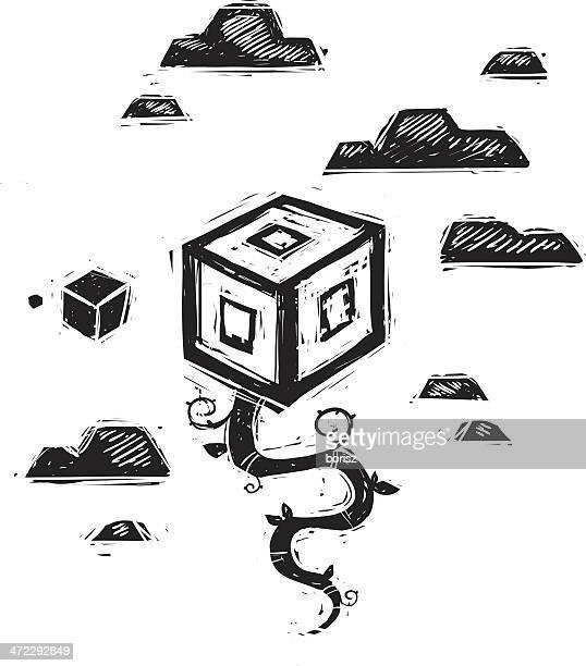 Illustrazioni e cartoni animati stock di il fagiolo magico