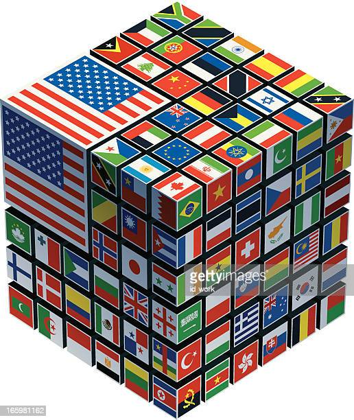 cube mit Nationalflaggen