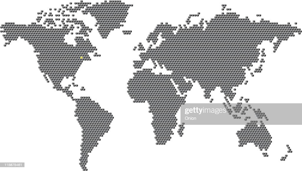 Cube World Map.Cube World Map Illustration Vector Art Getty Images