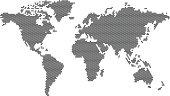 Cube World Map - illustration