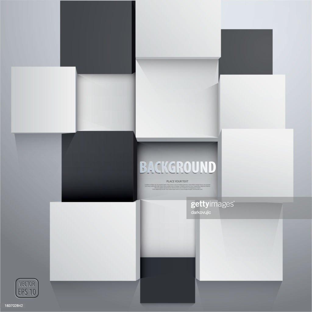 3D cubes background - design template. Vector