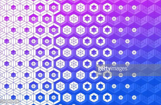 cubes blend background - stipple effect stock illustrations