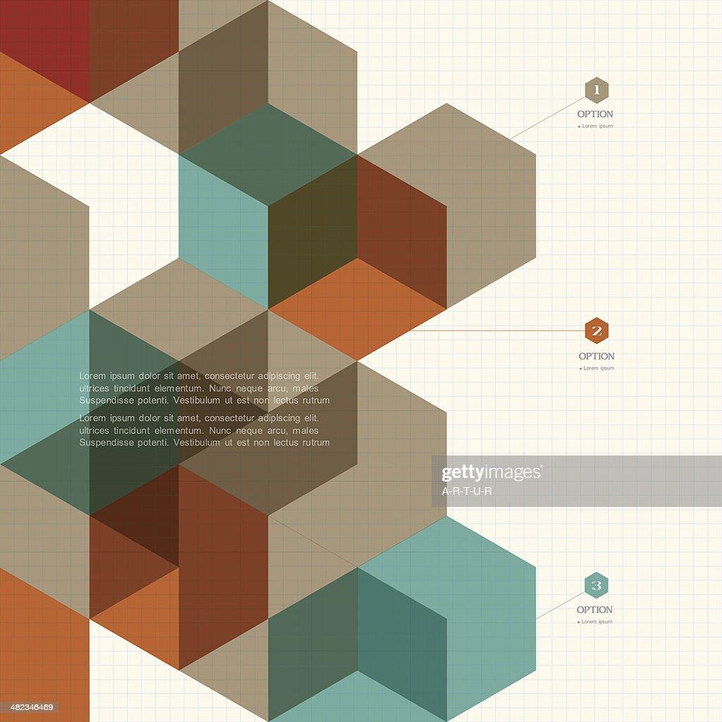 Cubes geometric background