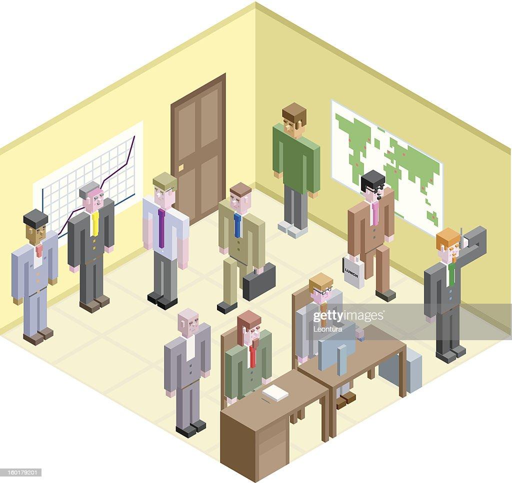 Cubic Businessmen : Vektorgrafik