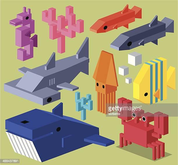 illustrations, cliparts, dessins animés et icônes de éléments de collection de cubes - jeu de construction