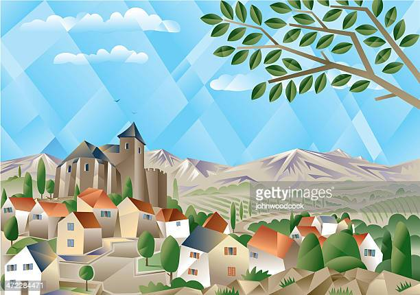 Cubist countryside