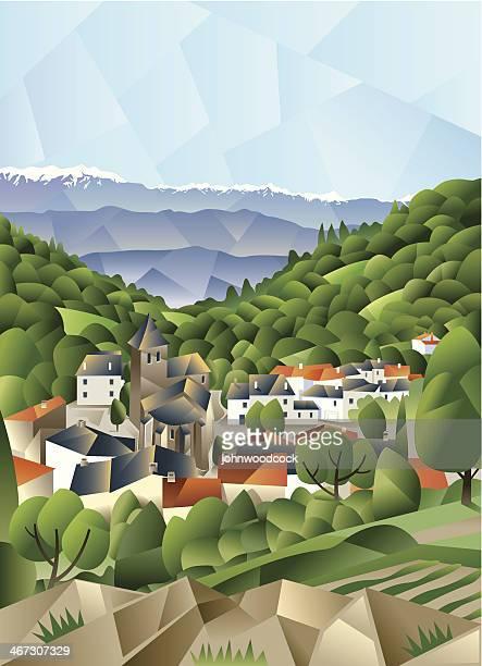 Cubist French village