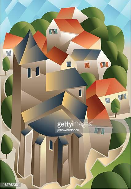 Cubist town