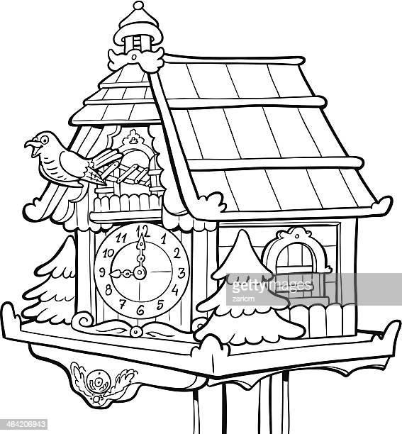 Cuckoo Clock Stock Illustrations And Cartoons