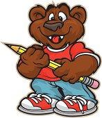 Cuddly School Bear