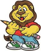 Cuddly School Lion