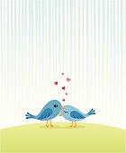 Cuddly Valentines birds